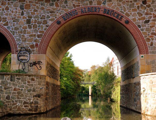 Leipzig - Weißenfelser Brücke über den Karl-Heine-Kanal