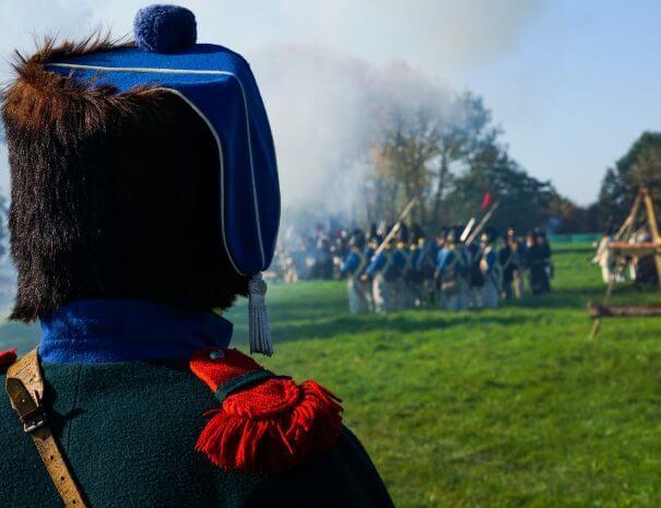 Gefechtsdarstellung Völkerschlacht bei Leipzig